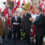 Pullman, WA - October 20, 2018 - Washington State University: Desmond Howard, Rece Davis, Drew Bledsoe and Kirk Herbstreit on the set of College GameDay Built by the Home Depot (Photo by Allen Kee / ESPN Images)