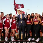 Pullman, WA - October 20, 2018 - Washington State University: Gene Wojciechowski on the set of College GameDay Built by the Home Depot (Photo by Allen Kee / ESPN Images)
