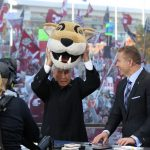 Pullman, WA - October 20, 2018 - Washington State University: Lee Corso and Kirk Herbstreit on the set of College GameDay Built by the Home Depot (Photo by Allen Kee / ESPN Images)