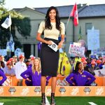 Baton Rouge, LA - November 3, 2018 - Louisiana State University: Maria Taylor on the set of College GameDay Built by the Home Depot (Photo by Phil Ellsworth / ESPN Images)