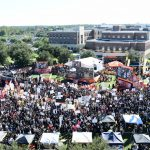 Orlando, FL - November 17, 2018 - University of Central Florida: Overhead of the set of College GameDay Built by the Home Depot (Photo by Scott Clarke / ESPN Images)