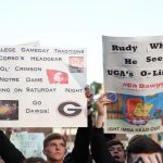 Athens, GA - September 21, 2019 - University of Georgia: Fans of the University of Georgia on the set of College GameDay Built by the Home Depot (Photo by Allen Kee / ESPN Images)