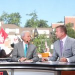Athens, GA - September 21, 2019 - University of Georgia: Lee Corso and Kirk Herbstreit on the set of College GameDay Built by the Home Depot (Photo by Allen Kee / ESPN Images)