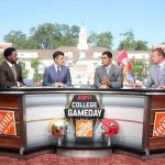 Athens, GA - September 21, 2019 - University of Georgia: Desmond Howard, Rece Davis, David Pollack and Kirk Herbstreit on the set of College GameDay Built by the Home Depot (Photo by Allen Kee / ESPN Images)