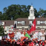 Athens, GA - September 22, 2019 - University of Georgia: Fans of the University of Georgia Bulldogs on the set of College GameDay Built by the Home Depot (Photo by Allen Kee / ESPN Images)