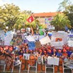 Gainesville, FL - October 5, 2019 - University of Florida: Fans of the University of Florida Gators on the set of College GameDay Built by the Home Depot (Photo by Phil Ellsworth / ESPN Images)