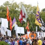 Baton Rouge, LA - October 12, 2019 - Louisiana State University: Fans on the set of College GameDay Built by the Home Depot (Photo by Allen Kee / ESPN Images)