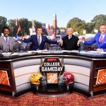 Tuscaloosa, AL - November 9, 2019 - University of Alabama: Desmond Howard, Rece Davis, Lee Corso and Kirk Herbstreit on the set of College GameDay Built by the Home Depot (Photo by Phil Ellsworth / ESPN Images)