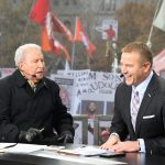 Columbus, OH - November 23, 2019 - Ohio State University: Lee Corso and Kirk Herbstreit on the set of College GameDay Built by the Home Depot (Photo by Scott Clarke / ESPN Images)