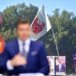Tuscaloosa, AL - November 9, 2019 - University of Alabama: Washington State flag during College GameDay Built by the Home Depot (Photo by Phil Ellsworth / ESPN Images)