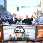Memphis, TN - November 2, 2019: Desmond Howard, Rece Davis, Lee Corso and Kirk Herbstreit on the set of College GameDay Built by the Home Depot (Photo by Scott Clarke / ESPN Images)