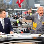 Philadelphia, PA - December 14, 2019 - Lincoln Financial Field: Rece Davis and Lee Corso on the set of College GameDay Built by the Home Depot (Photo by Scott Clarke / ESPN Images)