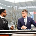 Philadelphia, PA - December 14, 2019 - Lincoln Financial Field: Desmond Howard and Rece Davis on the set of College GameDay Built by the Home Depot (Photo by Scott Clarke / ESPN Images)