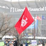 Philadelphia, PA - December 14, 2019 - Lincoln Financial Field: Washington State Flag during College GameDay Built by the Home Depot (Photo by Scott Clarke / ESPN Images)