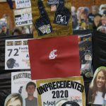 Winston-Salem, NC - September 12, 2020 - Wake Forest University: Cutouts of fans during College GameDay Built by the Home Depot (Photo by Bob Leverone / ESPN Images)