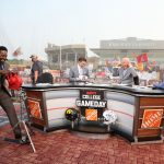 Ames, IA - September 11, 2021 - Jack Trice Stadium: Desmomd Howard, Rece Davis, Lee Corso and Kirk Herbstreit on the set of College GameDay Built by the Home Depot. (Photo by Allen Kee / ESPN Images)