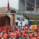 Ames, IA - September 11, 2021 - Jack Trice Stadium: Fans watching College GameDay Built by the Home Depot. (Photo by Allen Kee / ESPN Images)