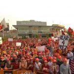 Ames, IA - September 11, 2021 - Ol' Crimson Washington State Cougars Flag
